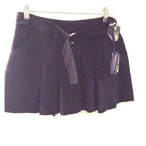 Black pinstripe mini Jean Paul Gaultier new